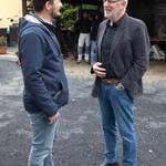 Dr. Fabian Gortschlich im Gespräch mit Reudens Ortsbürgermeister Dr. Lothar Stahl ©Sven Gückel