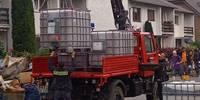 Hochwassereinsatz der Feuerwehr Gemeinde Elsteraue in Erftstadt-Blessem NRW