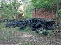 Reifenablagerungen Spora Siedlung