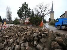 Bauarbeiten am Brunnenplatz von Dezember 2017 - bis Mai 2018 [(c) Gemeinde Elsteraue]