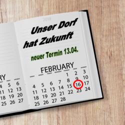 Terminänderung - Unser Dorf hat Zukunft - Rehmsdorf